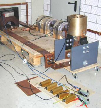 Bild 5 Meßaufbau der Stromwandler an der Hochstromanlage
